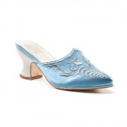 """Antoinette"" 18th Century Mules (Blue)"