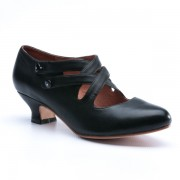"""Astoria"" Edwardian Leather Shoes (Black)"