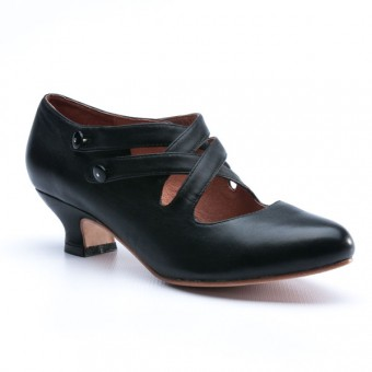 """Astoria"" Edwardian Leather Shoes (Black, imperfect)"
