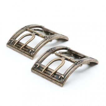 """Cavendish"" 18th Century Shoe Buckles (Gold)"