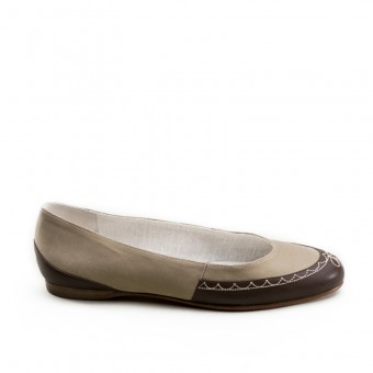 """Dashwood"" Regency Slippers (Tan/Brown)(1800-1820)(Pre-Order)"