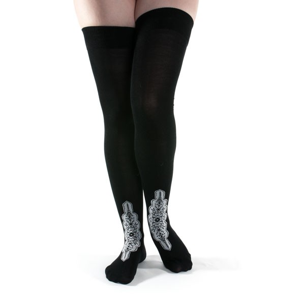 1920s Style Stockings & Socks Silk Stockings (Black) $25.00 AT vintagedancer.com