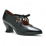 """Gibson"" Edwardian Leather Shoes (Black)"