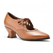 """Gibson"" Edwardian Leather Shoes (Tan/Brown)"