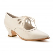"""Gibson"" Edwardian Leather Shoes (Ivory)"