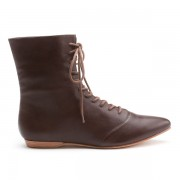 """Hartfield"" Regency Leather Boots (Brown)(1790-1815)"