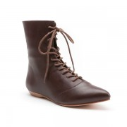 """Hartfield"" Regency Leather Boots (Brown)"