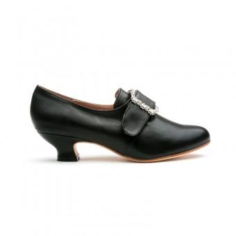 """Kensington"" 18th Century Leather Shoes (Black, imperfect)"