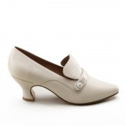 """Moliere"" Edwardian Pumps (Ivory)(1900-1925)(Pre-Order)"