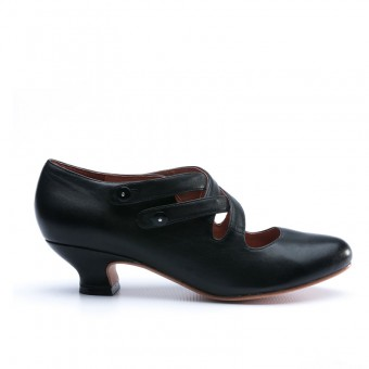 """Astoria"" Edwardian Leather Shoes (Black)(1900-1925)"