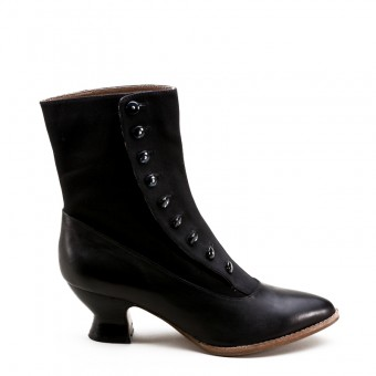 """Manhattan"" Button Boots (Black)(1890-1920)"
