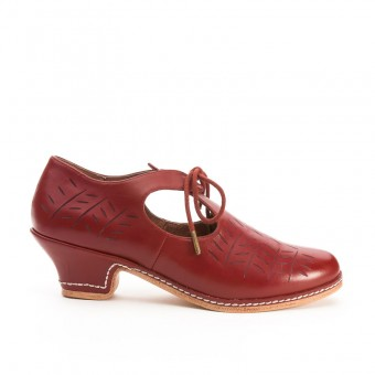 """Stratford"" Elizabethan Shoes (Oxblood)(Dead Stock)"