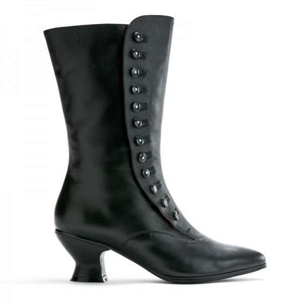 Black Victorian buttoned boots