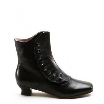 """""""Renoir"""" Civil War Button Boots (Black)(1850-1880s)"""