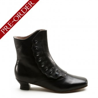 """Renoir"" Civil War Button Boots (Black)(1850-1880s)(Pre-Order)"