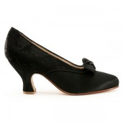 """Seabury"" Edwardian Pumps (Black)(1900-1925)"