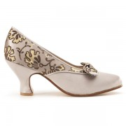 """Seabury"" Edwardian Pumps (Dove Grey)(1900-1925)"