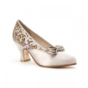 """Seabury"" Edwardian Pumps (Dove Grey)"