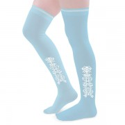 Clocked Silk Stockings (Blue)