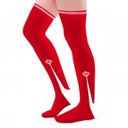 Clocked Silk Stockings (Red)