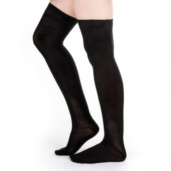 Silk Stockings (Black, Clocked)