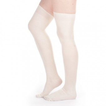 Silk Stockings (Ivory, Plain)