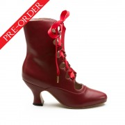 """Tango"" Edwardian Boots (Oxblood)(1890-1930)(Pre-Order)"